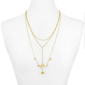 Rebecca Minkoff Etched Charm Statement Necklace
